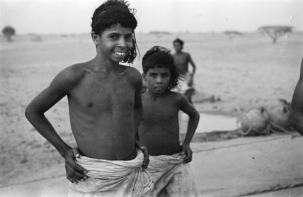 Two Bedouin boys at Bir ...