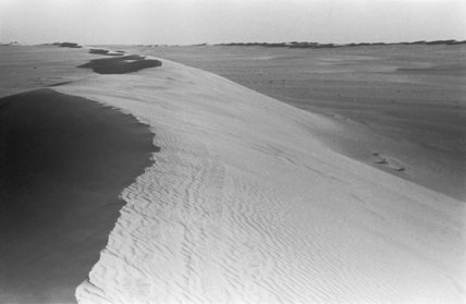 View of dune chains in ...