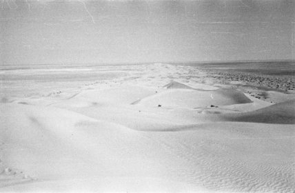 View of a long sand ...