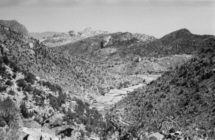 View of a valley near ...