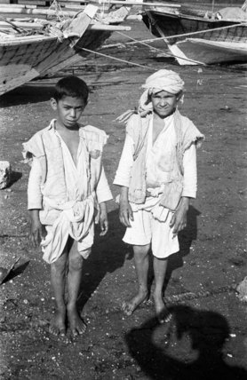 Portrait of two Arab boys ...