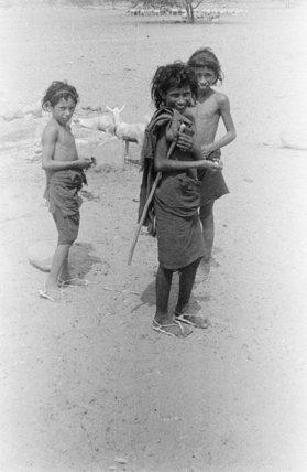 Group portrait of three Bedouin ...