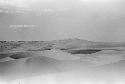 View of rolling dunes in ...