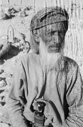 Portrait of an older tribesman ...
