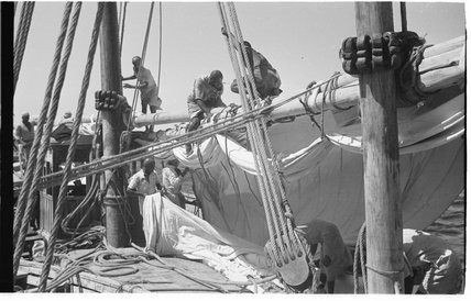 View of sailors on a ...