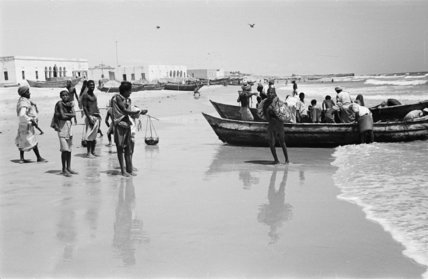 View of fishermen on the ...