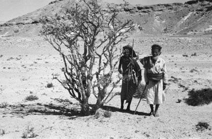 View of two Bedouin tribesmen ...