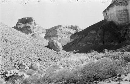 Wadi landscape near Fughmah. Some ...