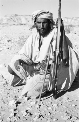 Seated portrait of Awad bin ...