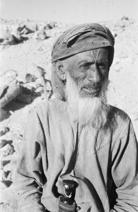 Portrait of an older tribesman ...