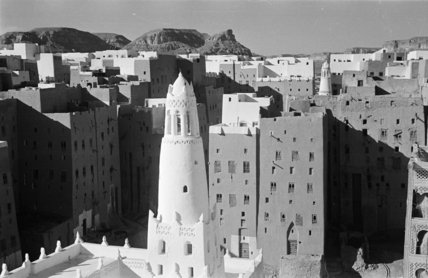 View of buildings at Shibam. ...