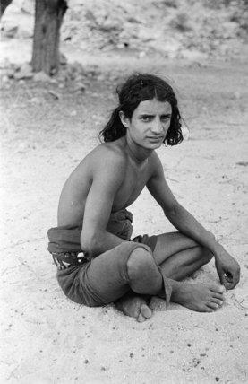 Portrait of a teenaged boy ...