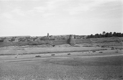 View of the walled village ...