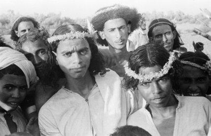 Group portrait of Arab men ...