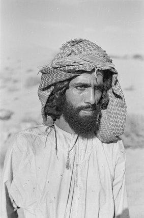 Half length portrait of tribesman ...