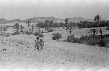 View of two Arab boys ...
