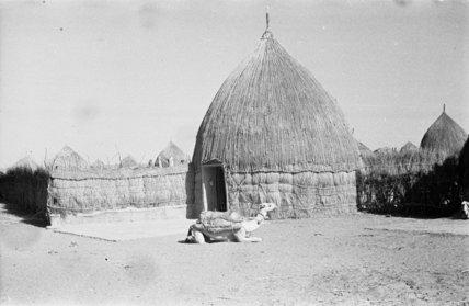 A round hut in a ...