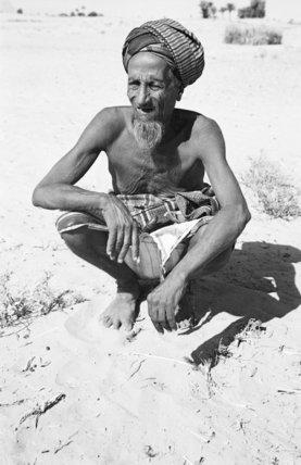 Portrait of an elderly Arab ...