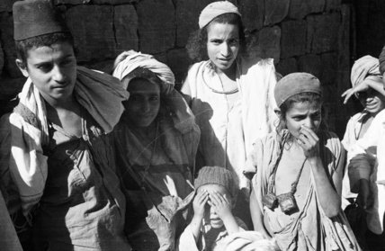 Group portrait of six Jewish ...