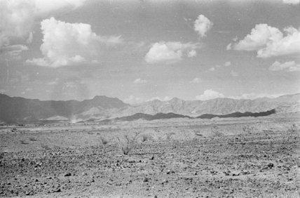 View of a vast barren ...