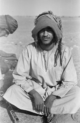 Portrait of a Bedouin man ...