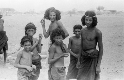 Group portrait of Bedouin boys ...