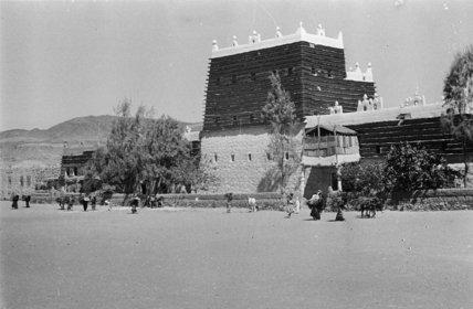 Buildings at Abha. A tall ...