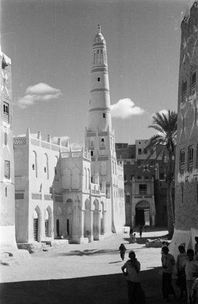 View of a mosque and ...