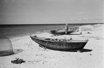 View of two small boats ...