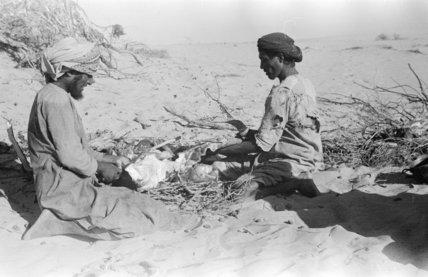 Portrait of two Bedouin men ...