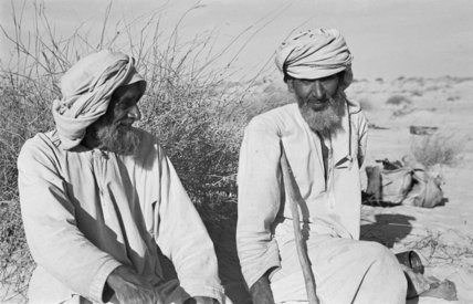 Seated portrait of two Manasir ...