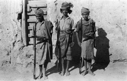 Portrait of three boys at ...