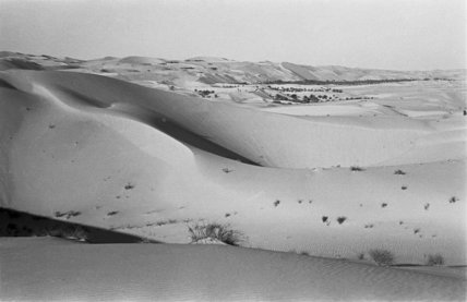 View of sand dunes and ...