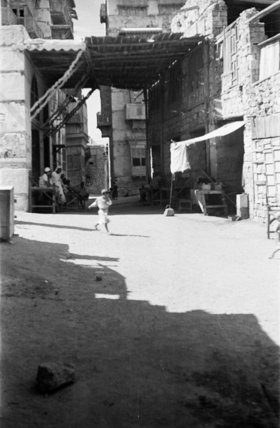 View of a child playing ...