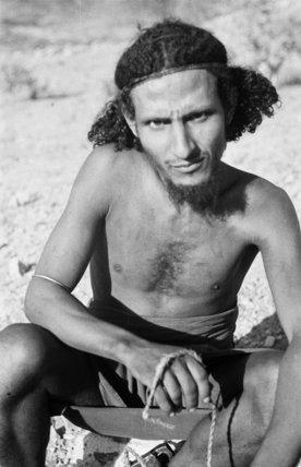 Portrait of a Qahtan prisoner ...