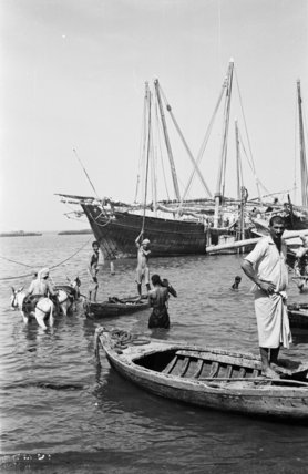 View of water sellers unloading ...