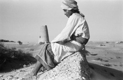 Seated profile portrait of Salim ...