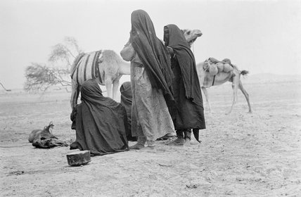 View of four Awamir Bedouin ...