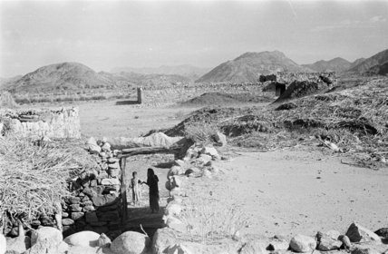 View of stone buildings in ...