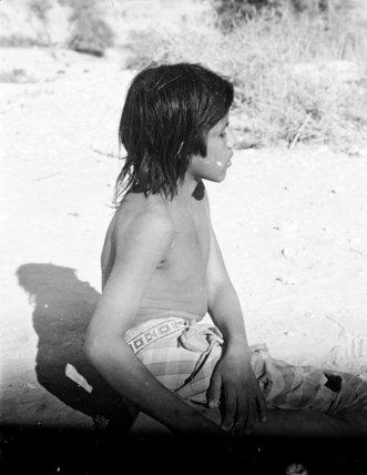 Profile portrait of a boy ...