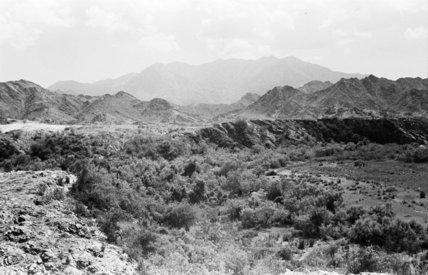 عرض من المناظر الطبيعية الجبلية في جبل