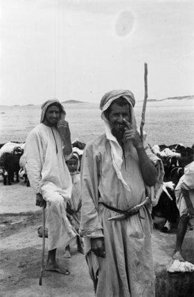 Portrait of two Utaybah Bedouin ...