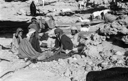 Group portrait of Sa'ar Bedouin ...