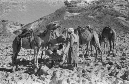 View of two Bedouin men ...