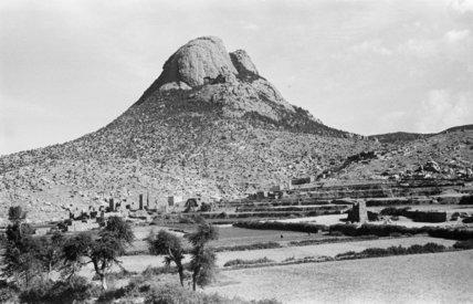 View of Jabal Harfa mountain ...