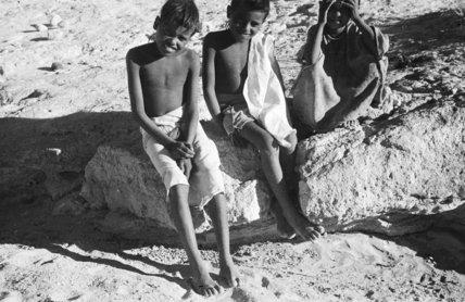 Group portrait of three boys ...