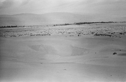 View of a salt flat ...
