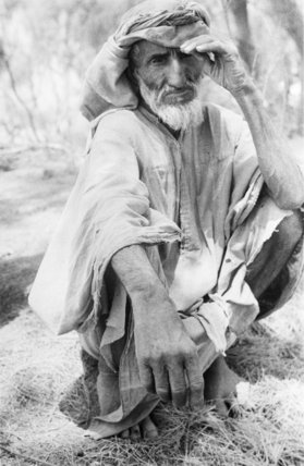 Portrait of an elderly man ...