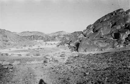 View of rocky hills and ...