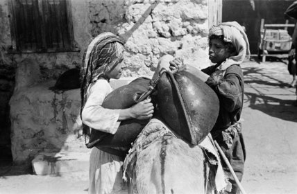 Portrait of two young Arab ...